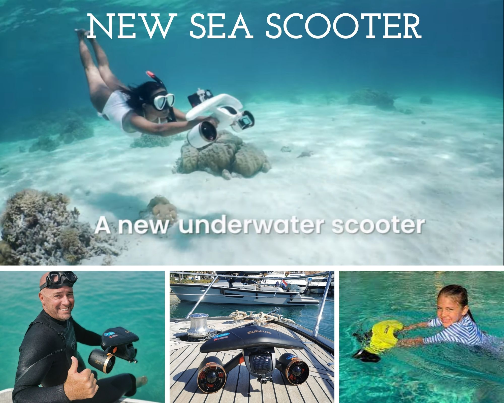 Water Toys for Boats: New Sea Scooter